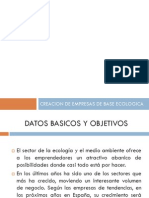 Creacion de Empresas de Base Ecologica