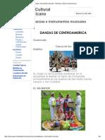 Danzas e Instrumentos Musicales - Patrimonio Cultural Centroamericano