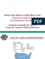 What to Do When A Child Won't Eat Feeding Disorders &Developmental Disabilities