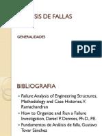 1. Analisis de Fallas Generalidades
