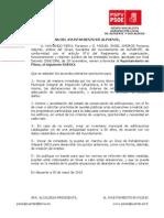 11-06-2013-Ruego Creacion del Plan de Inspección Urbanistica 2013
