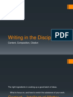 Pol 201 c Writing in the Discipline