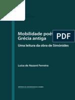 Luísa de Nazaré Ferreira - Mobilidade poética na Grécia antiga - Uma leitura da obra de Simónides
