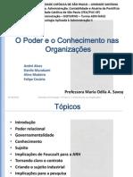 Trab-PSII-001 - O Poder e o Conhecimento nas Organizações - Rev.03
