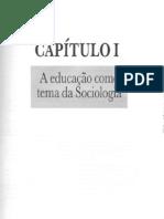 A Educacao Como Tema Da Sociologia