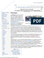 Hidrología - Wikipedia, la enciclopedia libre