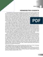 Misel Fuko - Hermeneutika Subjekta