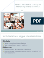 Academic Library Interdisciplinary Studies