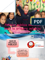 Política publica nacional para la primera infancia