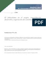 Palazzo, Eugenio Luis - El federalismo en el origen, consolidación, desarrollo y superación del constitucionalismo