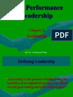 High Performance Leadership - 1