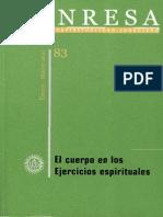 Manresa 2011 1-3. El Cuerpo en Los Ejercicios Espirituales.