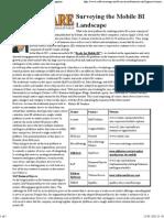 Surveying the Mobile BI Landscape - Software Magazine