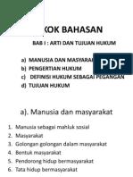 Materi Pengantar Ilmu Hukum I