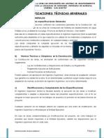 B.1) ESPECIFICACIONES TÉCNICAS GENERALES
