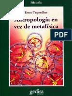 Antropología en vez de Metafísica - Ernst Tugendhat