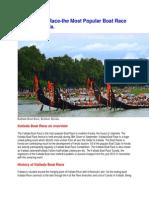 Kallada Boat Race-the Most Popular Boat Race in South Kerala.