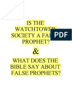False Prophecies of the Watchtower.