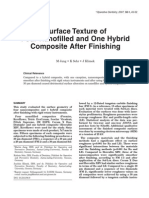 Surface Texture of Four Nanofilled and One Hybrid Composite After Finishing