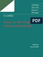 Condillac E.B. Essay on the Origin of Human Knowledge