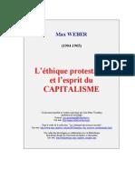 Max Weber Ethique Protestante