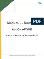 Addon AfOne Manual de Usuario v7
