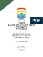 Dody Firmanda 2013 - Format Daftar Kewenangan Klinis Nutrisionis