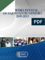 Programa Estatal en Equidad Ygenero 2013