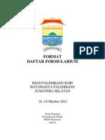 Dody Firmanda 2013 - Format Daftar Formularium Rumah Sakit