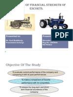 40088980 Project Report on Escort Tractors