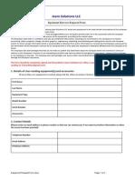 Equipment Request Form