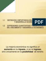 Crecimiento y desarrollo económico