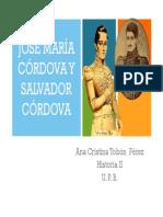 Unidad 4 José María y Salvador Córdova - Ana Cristina Tobón Pérez