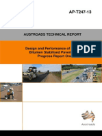 Design and Performance of Foamed Bitumen Stabilised Pavements - Progress Report 1