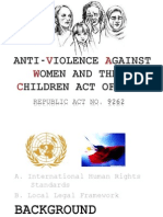 Anti-Violence Against Women and Their Children Act Of