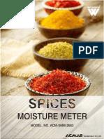 Spices Moisture Meter
