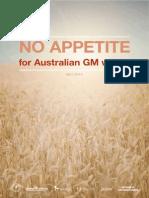NO APPETITE for Australian GM wheat