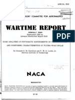 NACA ARR 3I06 Some Analyses of Systematic Experiments on the Resistance and Porpoising Characteristics of Flying-boat Hulls