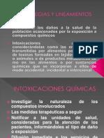 INTOXICACIONES ALIMENTARIAS Y POR QUÍMICOS
