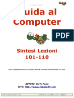 Guida al Computer - Sintesi Lezioni 101-110