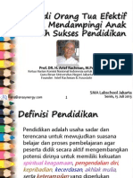 Menjadi Orang Tua Efektif Dalam Mendampingi Anak Meraih Sukses Pendidikan-GC (15Juli13)