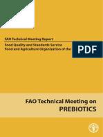 Prebiotics Tech Meeting Report