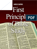 First Principle of Bible Study