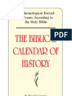 Biblical Calender of History