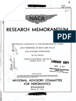 NACA RM L57A15 Statistical Approach to the Estimation of Loads and Pressures on Seaplane Hulls for Routine Operations
