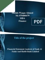 Financial Statement Analysis of Bank Al Falah and Habib Bank Limited
