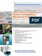 CCTV-Professional Certificate of Competency in CCTV, ACS, Firealarm System & Building Management System