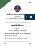 Trial Kedah English Spm 2013 k1 Dan Jawapan