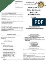 BOLETIN CEIP QUIRÓS PADRES 13-14