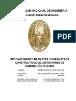 Reconocimientos de Partes y Parametros Construcctivos de Los Mci Lab n1